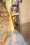 Old street in an Italian village Vernazza Stock Photos