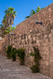 Old street of Jaffa, Israel Stock Photography