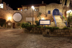 Old street of Jaffa, Tel Aviv in the night, Stock Photos