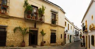 Old street in Jerez de la Frontera Stock Images