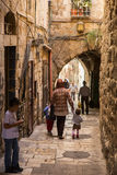 Old Street in Jerusalem, Israel Stock Photos