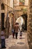 Old Street in Jerusalem, Israel Stock Photos