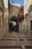 Old street  in Jerusalem town. Israel Royalty Free Stock Image