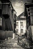 Old street in Kazimierz Dolny city Poland Stock Image