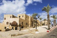 The old street Kikar Kedumim of Jaffa,Tel Aviv Stock Photography