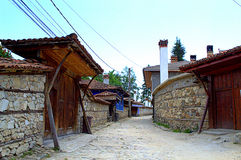 Old street in Koprivshtitsa Bulgaria Royalty Free Stock Photography