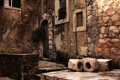 Old street of Kotor. Royalty Free Stock Image