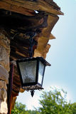 Old street lamp. On natural background royalty free stock photo