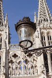 Old street lamp in Burgos Royalty Free Stock Photos
