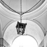 Old street lamp and ceiling Royalty Free Stock Photography