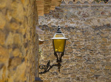 Old street lamp. In city Pals, Spain royalty free stock photos