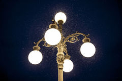 Old street lamp with mosquitoes Stock Photo