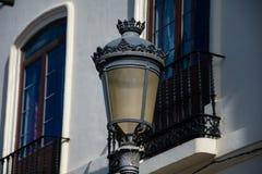 Old Street lamp. Ronda, Spain royalty free stock image
