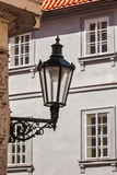 Old street lamp in Prague street Royalty Free Stock Photos
