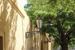 Old street lamp in prague Stock Photos
