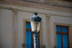 Old Street lamp in Ronda. Old Street lamp. Ronda, Spain stock image