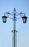 Old street lamp on sky background Royalty Free Stock Photo