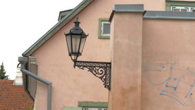 An old street lamp in Tartu Estonia 4K FS700 Odyssey 7Q Stock Image