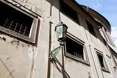 Old street lamp under the scorching sun Royalty Free Stock Images