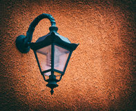Old street lamp, wall Stock Photography