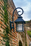 Old street lantern on the wall. Abanotubani district in the Old Town of Tbilisi. Georgia Royalty Free Stock Image