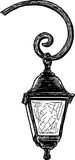 Old street light. Vector drawing of the vintage street lamp royalty free illustration