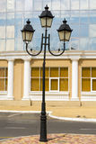 Old Street light european. Background Royalty Free Stock Images