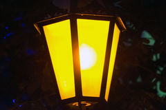Old Street light. Night background Royalty Free Stock Image