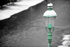 Old street light pole Royalty Free Stock Photography