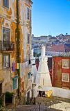 Old street in Lisbon Stock Photos