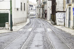 Old street of Lisbon Stock Photos