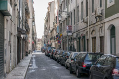 Old street in Lisbon downtown. Royalty Free Stock Image