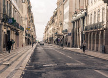 Old street in Lisbon downtown. Stock Photography