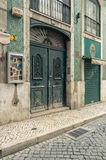 Old street in Lisbon downtown. Royalty Free Stock Photo
