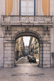 Old street in Lisbon downtown. Stock Image