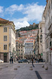 Old street in Lisbon downtown Stock Photography