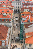 Old street in Lisbon downtown Stock Image