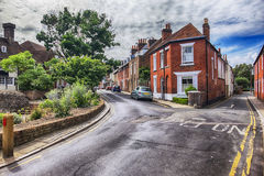 Old street in living area in Canterbury Stock Image