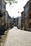 Old street in Lvov Royalty Free Stock Image