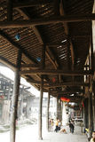Old street lying. In Sichuan province royalty free stock photo