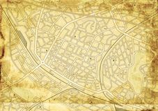 Old street map Royalty Free Stock Image