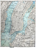 Old Street Map Of New York City Royalty Free Stock Photos