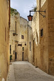 Old street in Mdina.  Malta Stock Photography