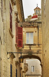 Old street in Mdina  Malta Royalty Free Stock Images