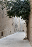 Old street on mdina Royalty Free Stock Image