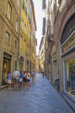 Old street in medieval fortress  of Lucca Royalty Free Stock Photography