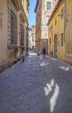 Old street in medieval fortress  of Lucca Stock Photography