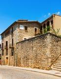 Old  street  of medieval Girona Stock Photo