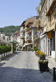 Old Street of the Medieval town Veliko Tarnovo from Bulgaria Stock Photography