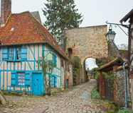 Old street in medieval village Royalty Free Stock Image